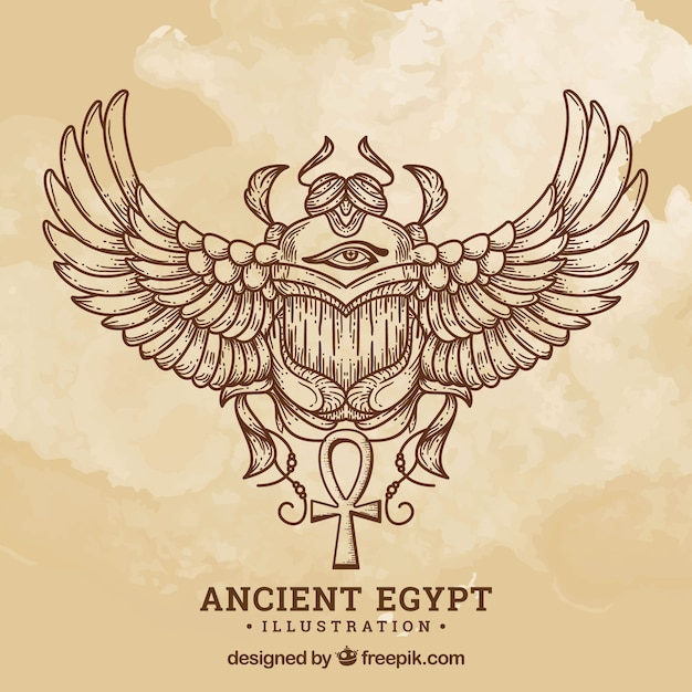 Ancient egypt background Free Vector