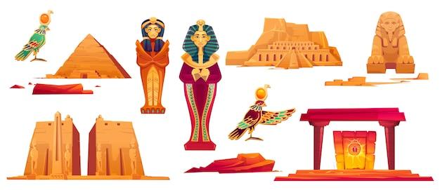 Ancient egypt landmarks Free Vector