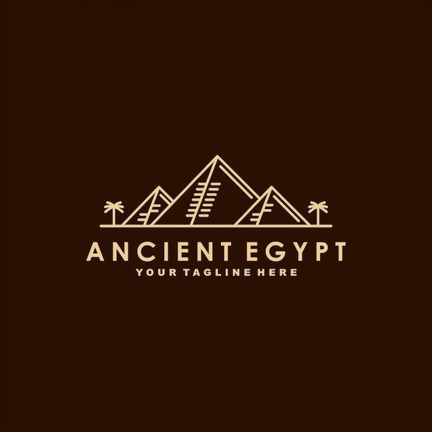 Ancient egypt premium logo  template Premium Vector