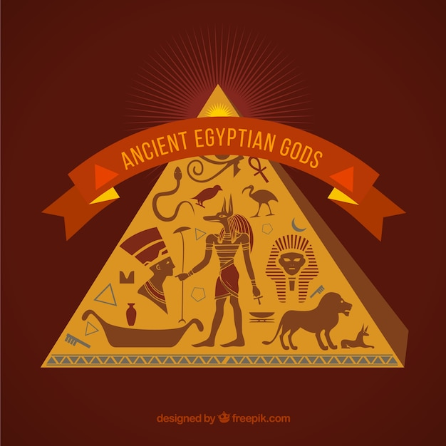 Ancient egyptian gods Free Vector