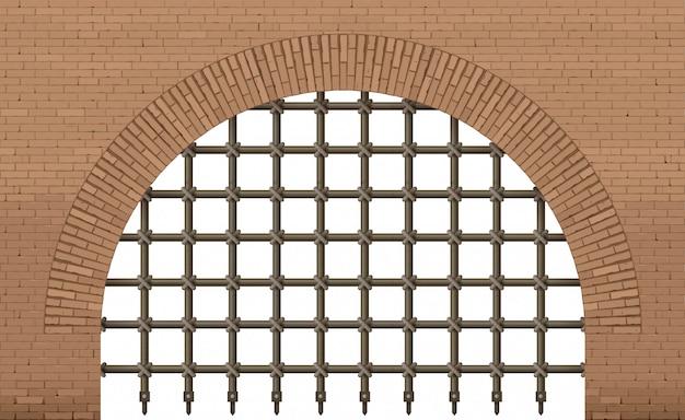 Ancient gate entrance to the castle Premium Vector