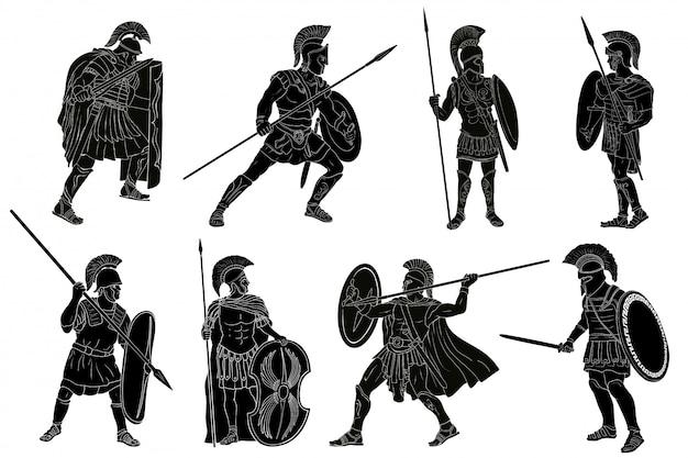 Ancient roman warrior. Premium Vector