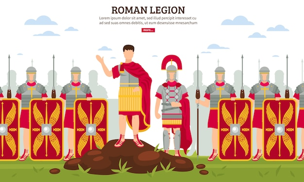 Ancient rome legion banner Free Vector