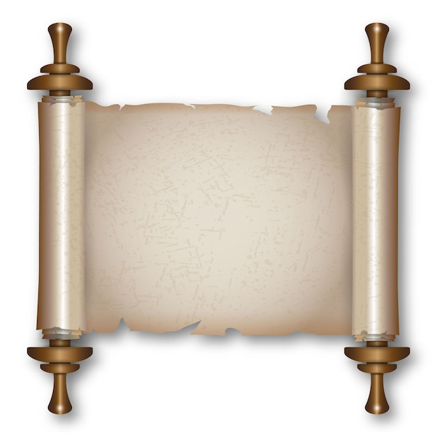 Ancient scroll with handles Premium Vector
