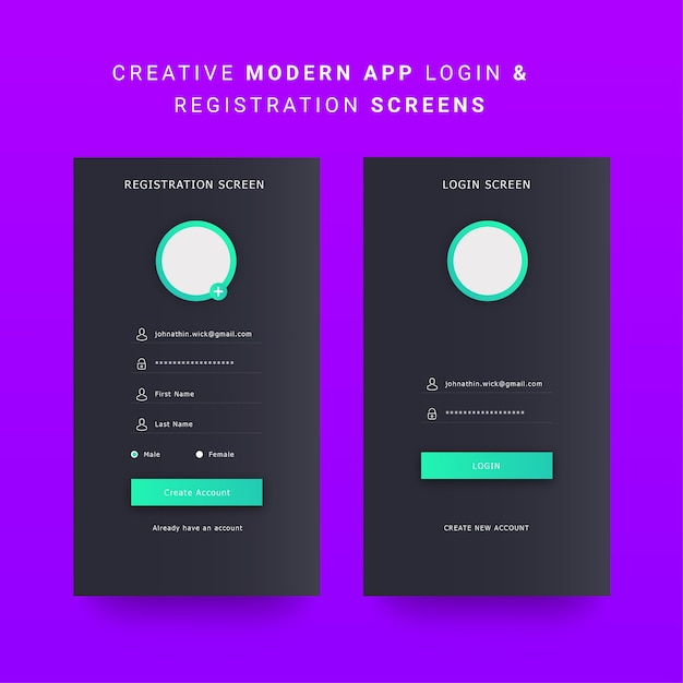 Android mobile app ui, mobile dashboard ui elements Vector