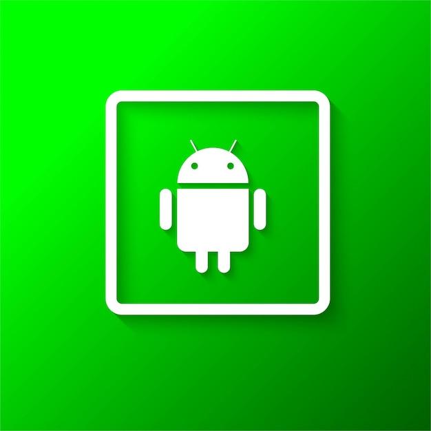 Современный фон иконок для android Бесплатные векторы