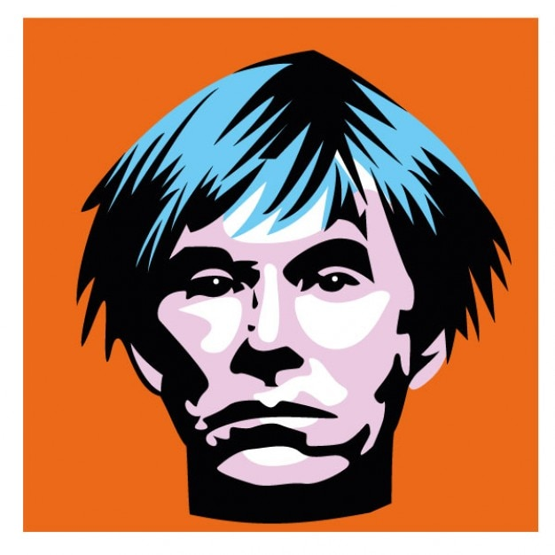 Extrem Andy warhol portrait american artist Vector | Free Download IO94