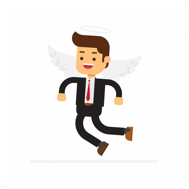 Angel businessman character Premium Vector