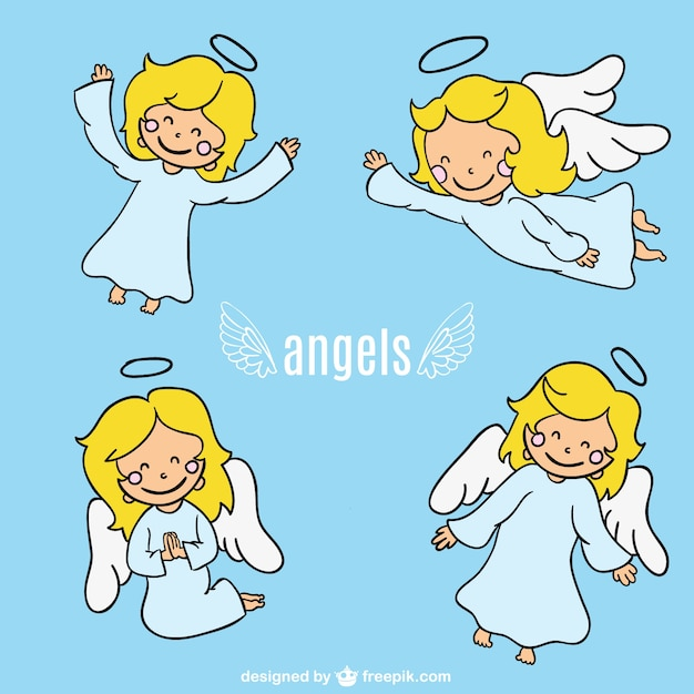 Cartoon Character Design Vector : Angel cartoon character design vector free download