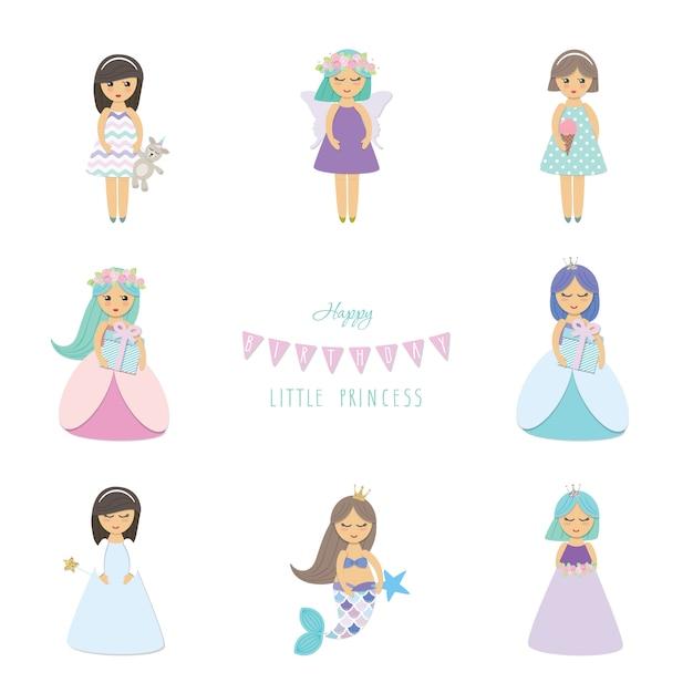 Angel cartoon characters set. Premium Vector