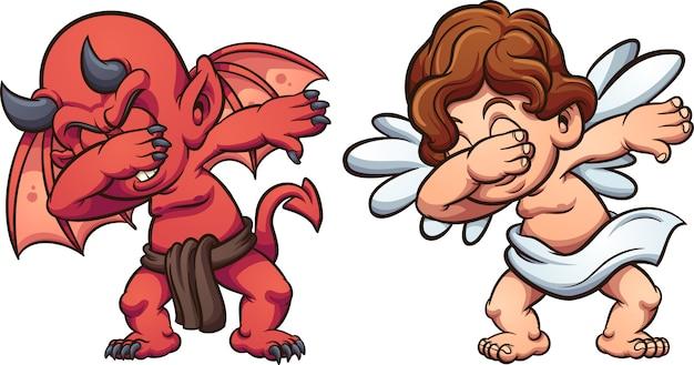 Angel and devil Premium Vector