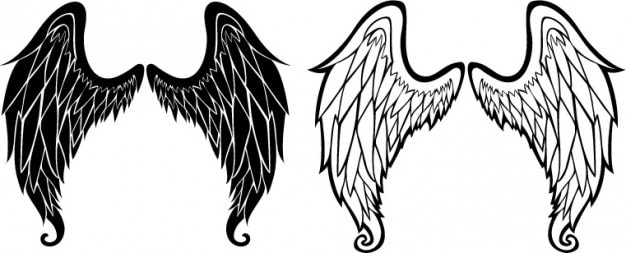 angel wings sketch icon vector vector free download rh freepik com vector image angel wings vector angel wings free