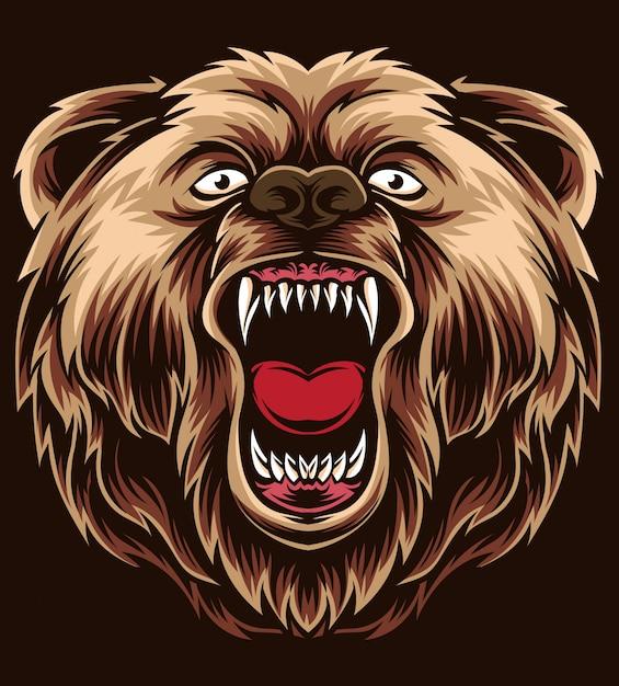 Anger bear vector Premium Vector