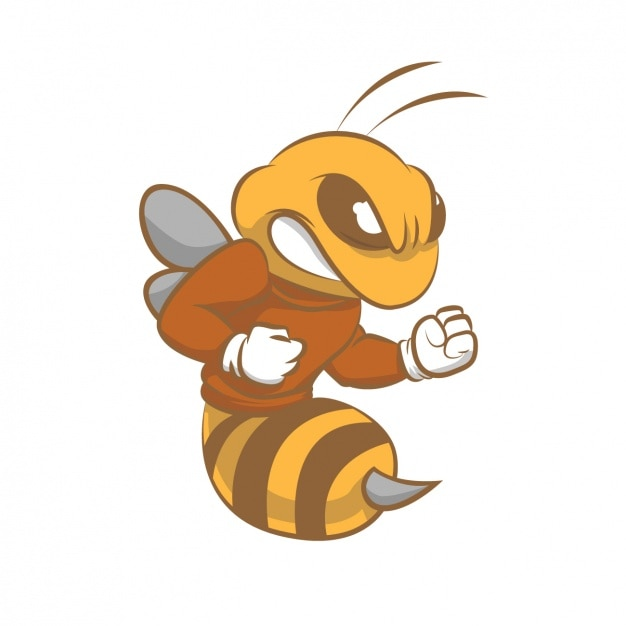 Angry bee design