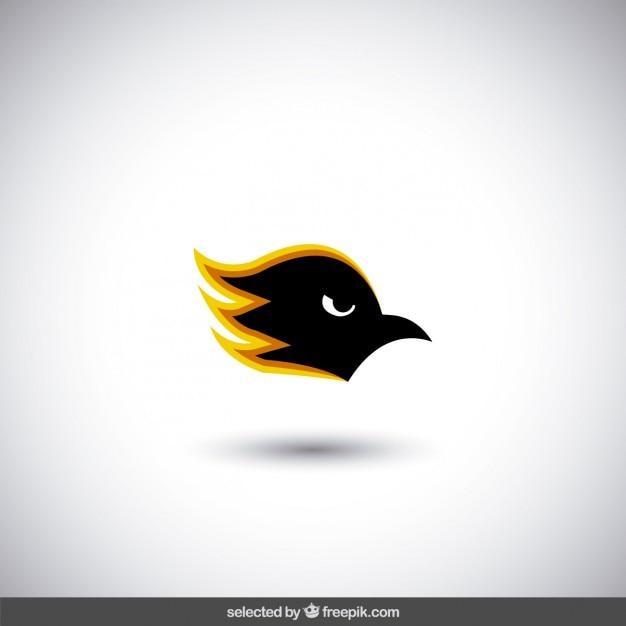 Angry bird head logo Free Vector