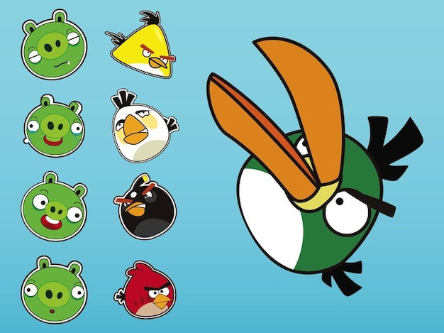 Angry birds expressions social media\ icons