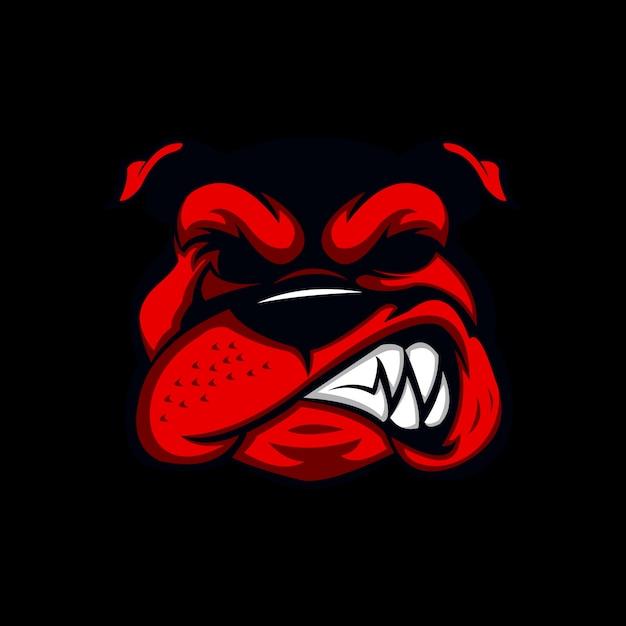 Angry bull dog Premium Vector