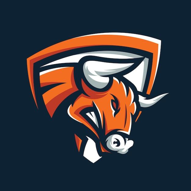 Angry bull logo vector Premium Vector