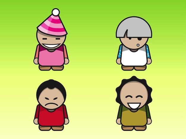 Angry Cartoon characters logo vector