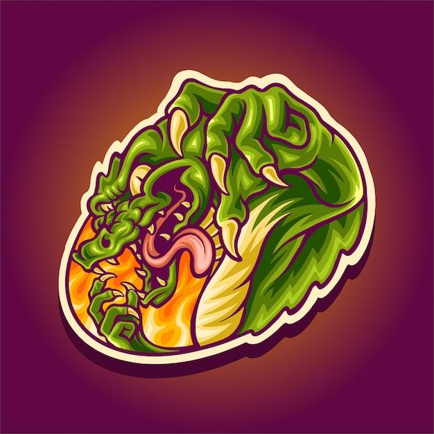 Злой крокодил талисман логотип Premium векторы