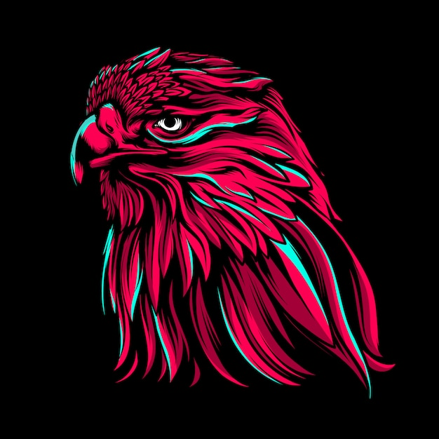The angry eagle  illustration Premium Vector