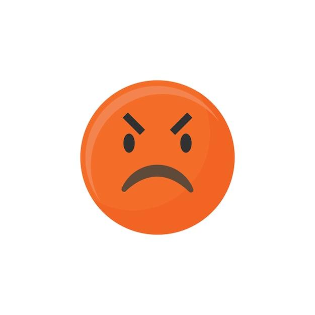Angry emoji Free Vector