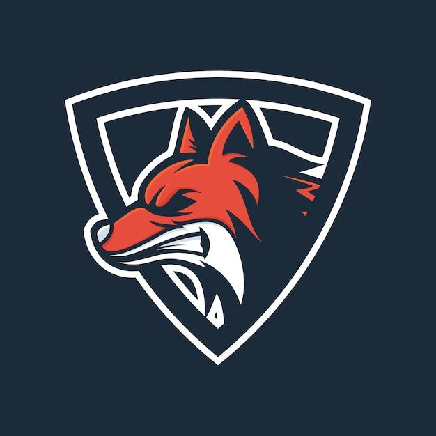 Angry fox head logo vector Premium Vector