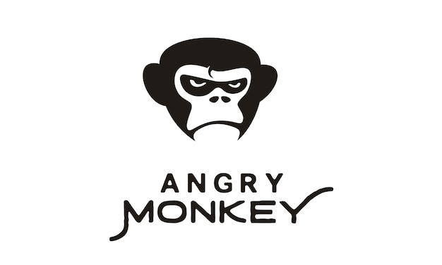 怒っているゴリラ/猿のイラスト Premiumベクター
