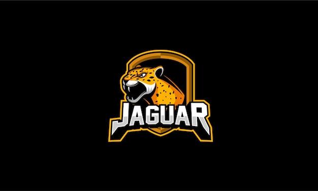 Angry jaguar logo emblem Premium Vector