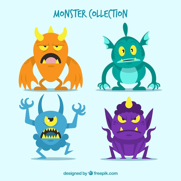 Angry monster pack
