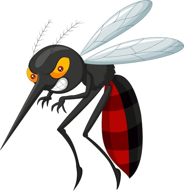 Angry mosquito cartoon Premium Vector