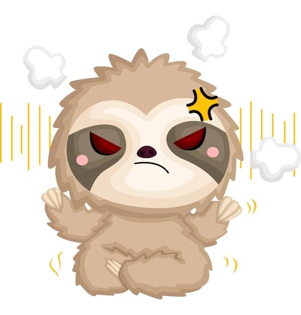 A di un bradipo arrabbiato Vettore gratuito