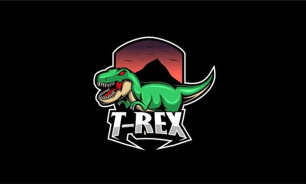Angry t rex mascot logo illustration Premium Vector