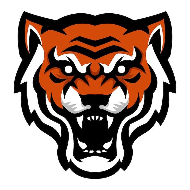 angry tiger head mascot logo vector premium download rh freepik com tiger head logo design tiger head mascots