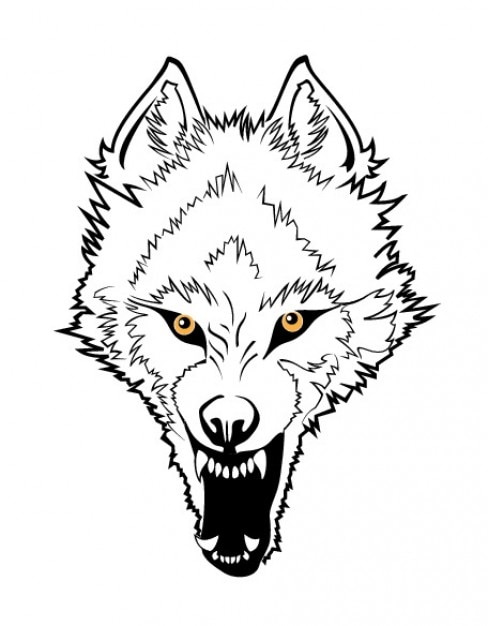 angry wolf face vector free download