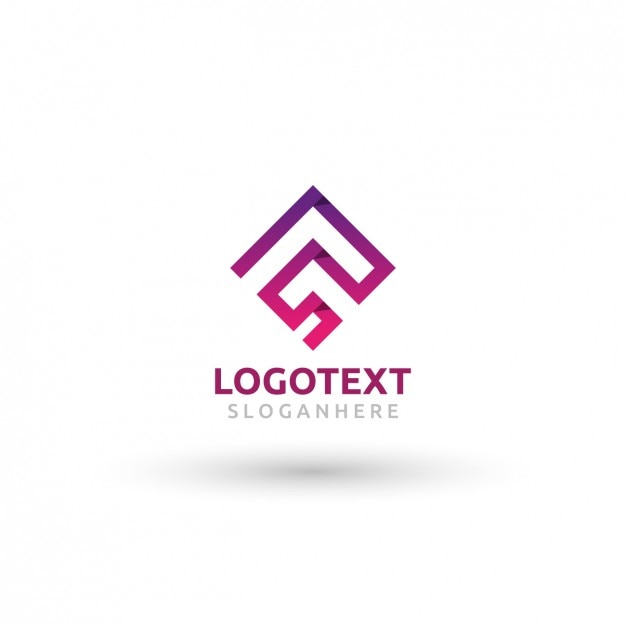 angular logo template vector free download