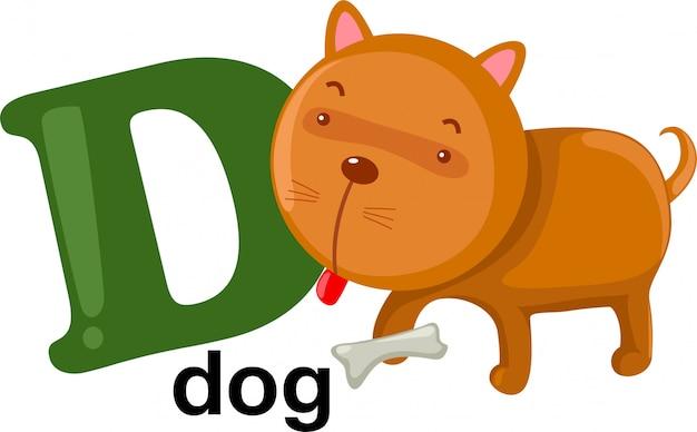 Animal alphabet letter - d Premium Vector