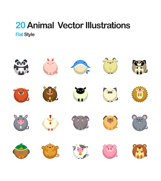 Animal flat illustration Premium Vector