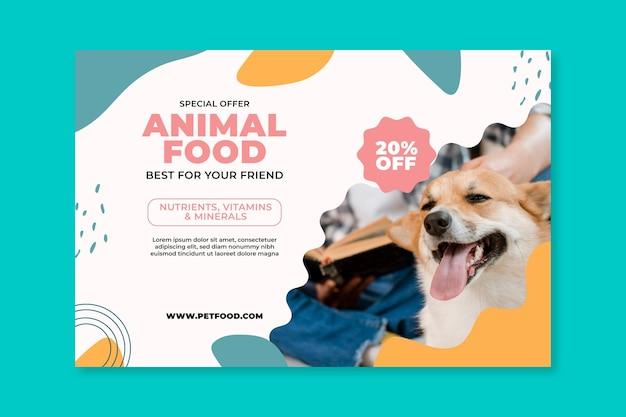 Modello di banner di cibo animale Vettore gratuito