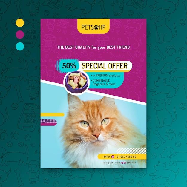 Animal food flyer template Free Vector