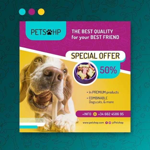 Animal food flyer Free Vector