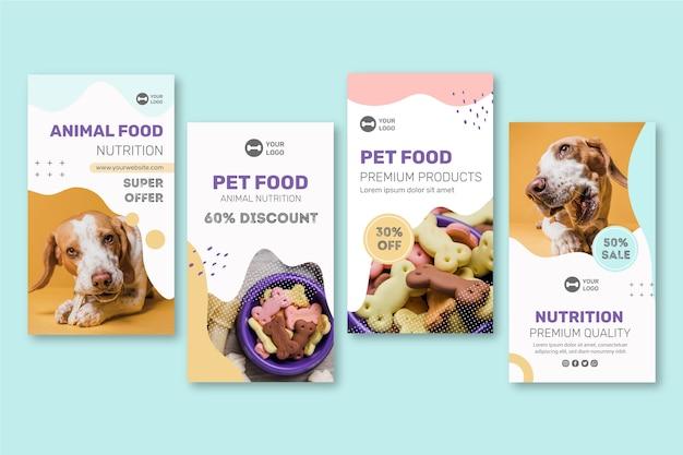 Animal food instagram stories Free Vector