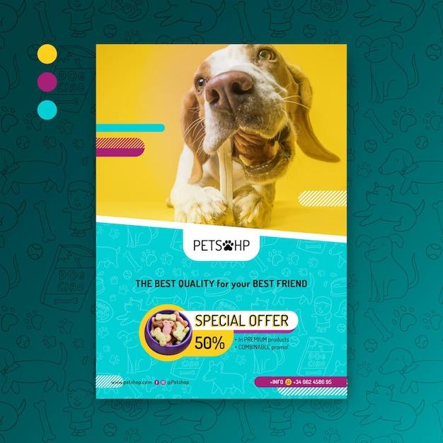 動物フードポスター 無料ベクター