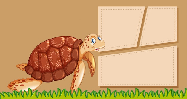 Animal frame template poster with blank copyspace Free Vector