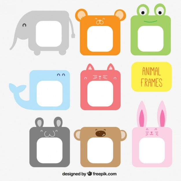 Animal Frames Collection Vector Free Download