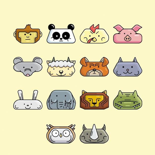 Animal head icon Premium Vector
