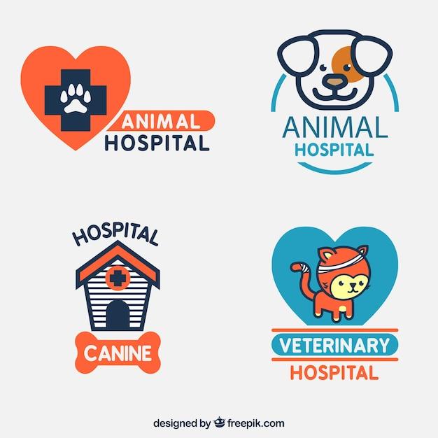Animal logo templates Free Vector