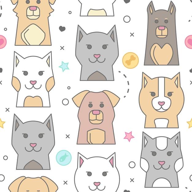 Animal Portrait with Flat Design Grumpy Cat\ Illustration