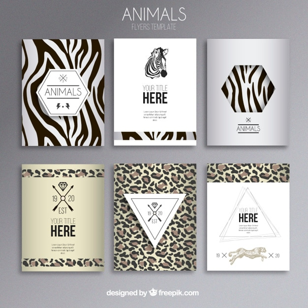 animal print flyers free vector - Animal Pictures To Print Free