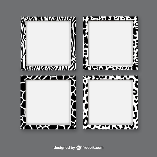 animal print frames free vector - Animal Pictures To Print Free